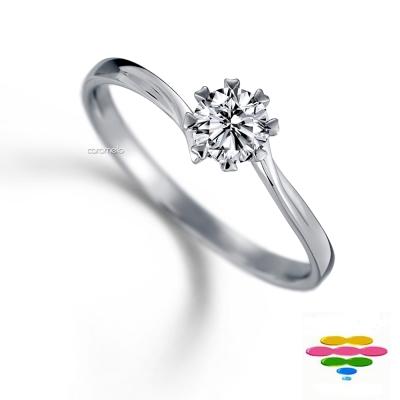 彩糖鑽工坊 19分鑽石戒指 八爪愛心 心戀心系列