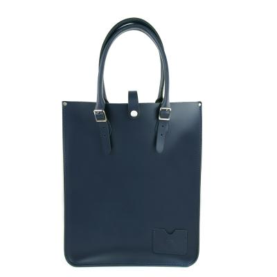 The Leather Satchel 英國手工牛皮托特包 手提 肩背包 湖泊藍