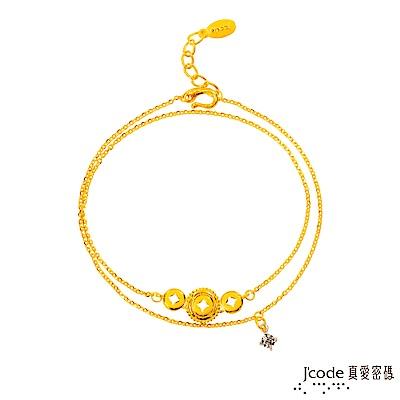 J'code真愛密碼 金有錢黃金/純銀手鍊