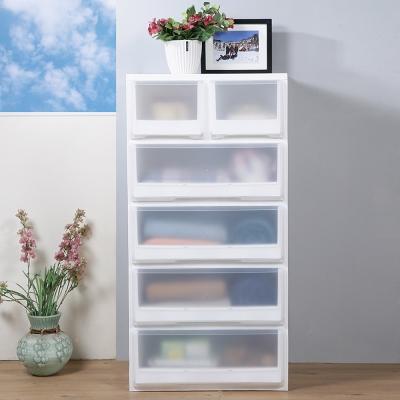 創意達人x樹德第二代加寬白色積木2-4抽收納櫃-1