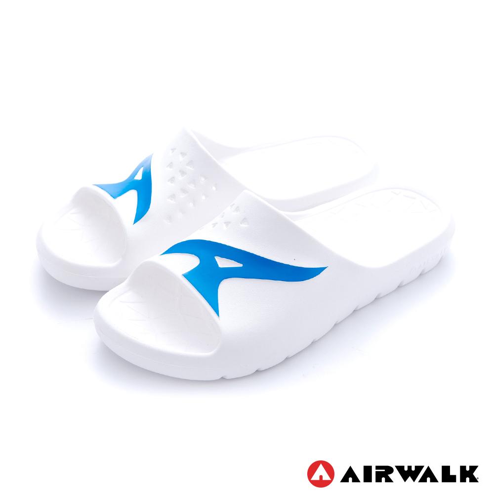【AIRWALK】舒適柔軟輕盈AirJump拖鞋-白色