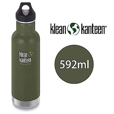 【美國Klean Kanteen】窄口不鏽鋼保溫瓶-592ml-松葉綠
