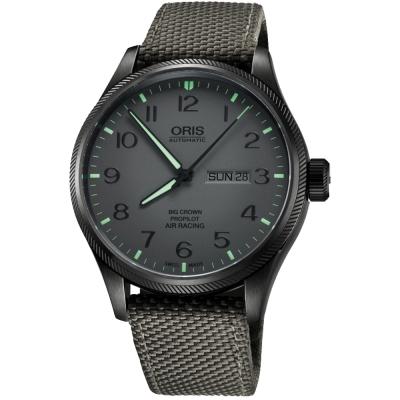 Oris Air Racing Edition 飛行賽紀念限量機械腕錶-灰/45mm