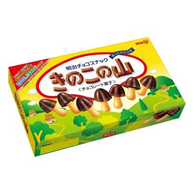 明治 香菇造型巧克力餅乾(74g)