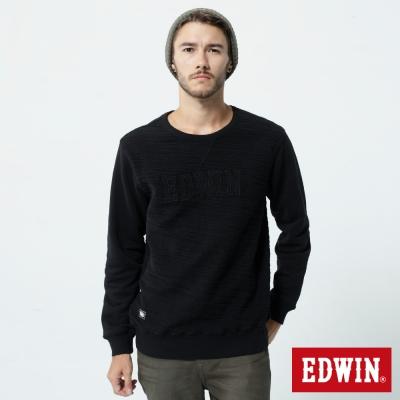 EDWIN 貼布繡花T恤-男-黑色