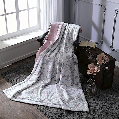 BBL暖香綻放100%精梳棉.印花傳統單人涼被