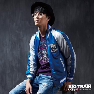 BIG TRAIN 橫須賀老虎外套-男-寶藍色
