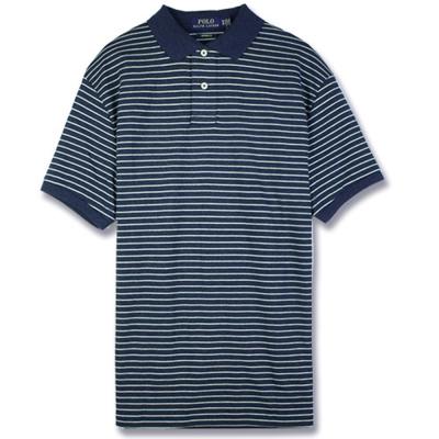 Ralph Lauren 棉質純條紋POLO衫(墨藍)
