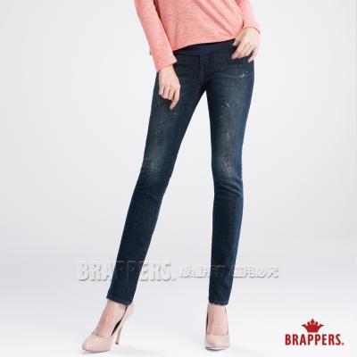 BRAPPERS 女款 新美腳Royal系列-女用彈性AB褲-深藍