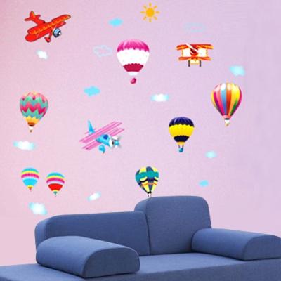 B-039童趣生活系列-熱氣球 大尺寸高級創意壁貼 / 牆貼