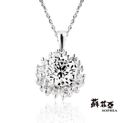 蘇菲亞SOPHIA 鑽石項鍊-花火0.30克拉ESI鑽鍊