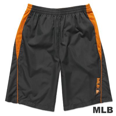 MLB-美國職棒大聯盟風衣布撞色運動短褲-深灰(男)