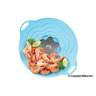 義大利製SiliKoMart專利防漏-聰明蒸煮鍋蓋(S)-淺藍