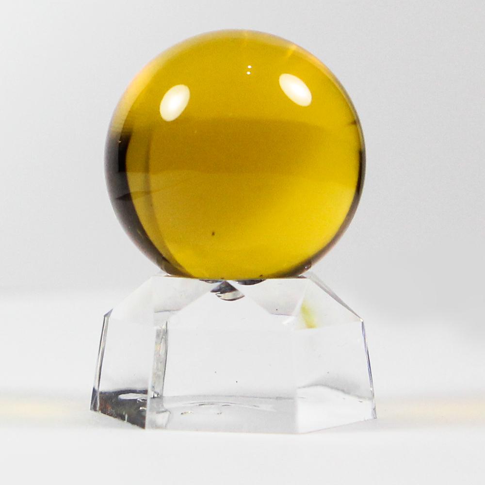 A1寶石 黃色琉璃球風水擺飾-同黃水晶功效-招財開運招正財偏財防止漏財