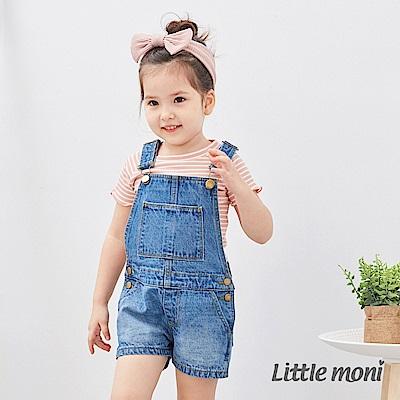 Little moni 牛仔連身短褲 (2色可選)