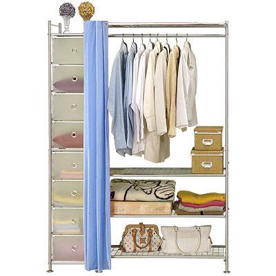 巴塞隆納─W 4 +D型 90 公分衣櫥置物架