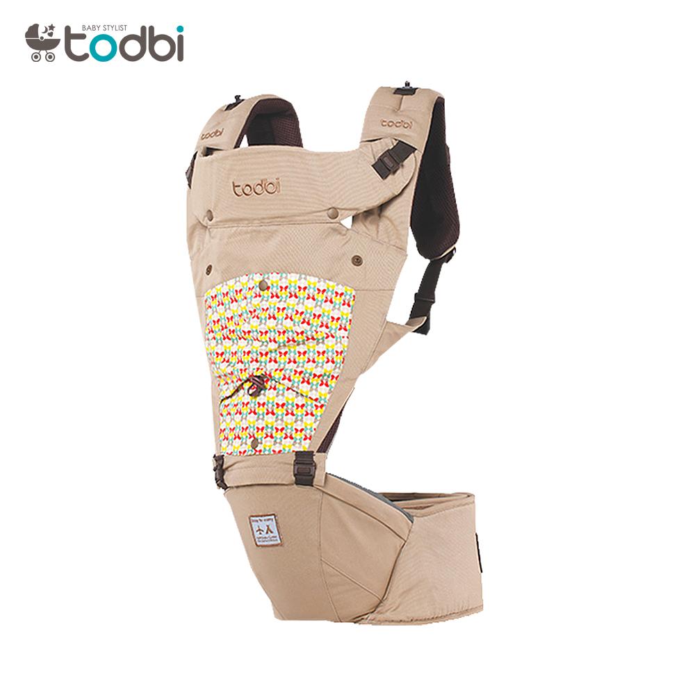 【麗嬰房】TODBI AIR MOTION blossom有機棉氣囊坐墊背巾(淺褐)
