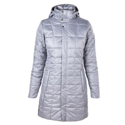 【Berghaus 貝豪斯】女款溫度調節高科技棉保暖大衣H21F02-灰