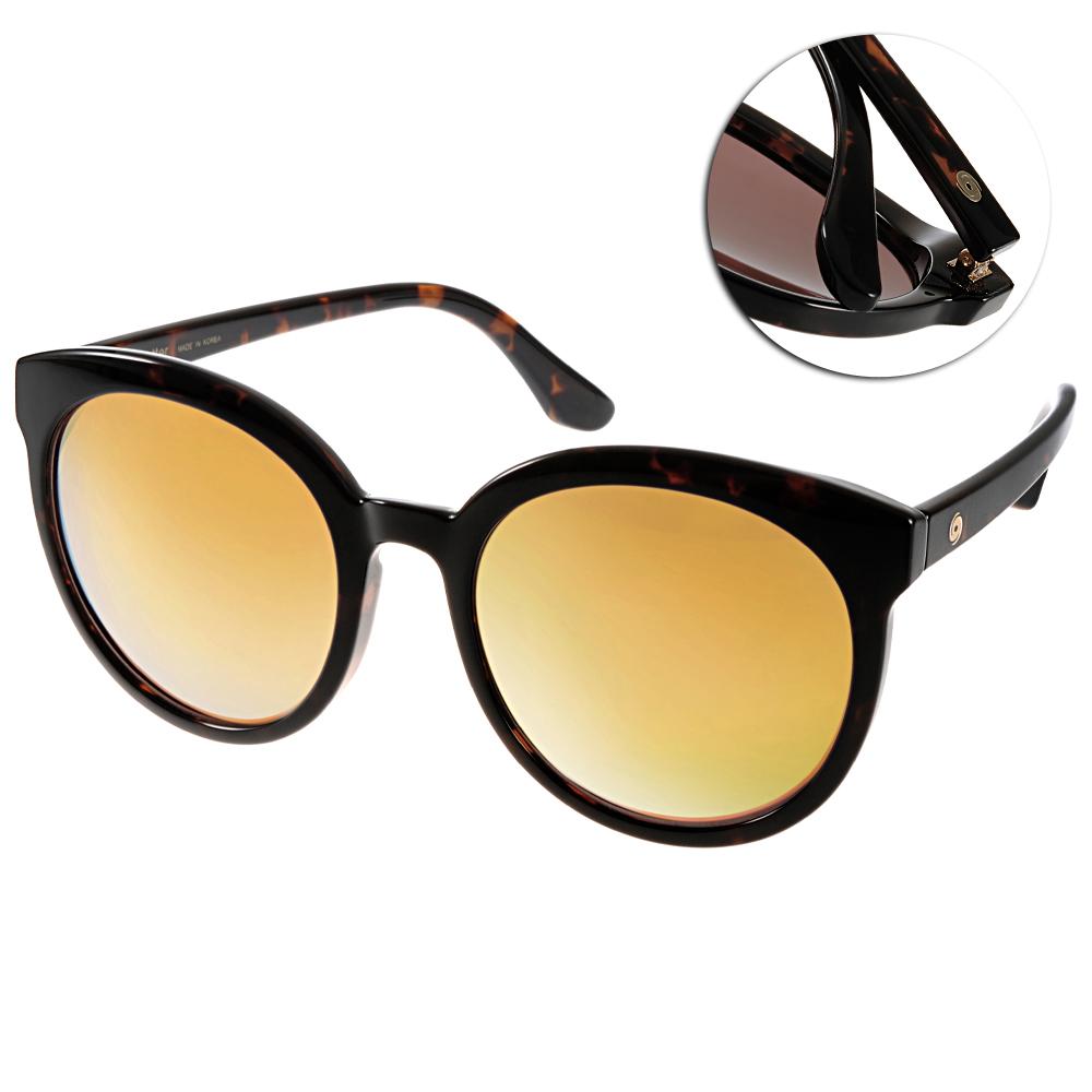 Go-Getter太陽眼鏡 韓系圓框/琥珀棕-水銀黃#GS4003 06