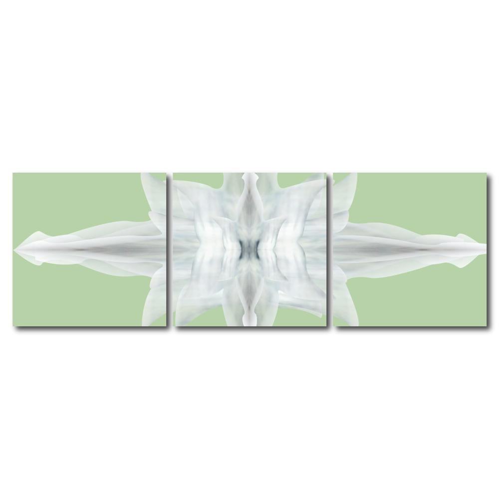 123點點貼- 三聯式無痕創意壁貼 -交織虹彩30*30cm