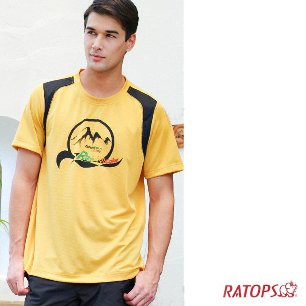 【瑞多仕】男款 COOLMAX 休閒排汗圓領T恤_DB8452 黃色 V1