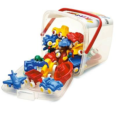 瑞典Viking Toys維京玩具-玩具車桶裝20件組