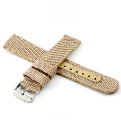 軍用尼龍帆布錶帶-卡其色