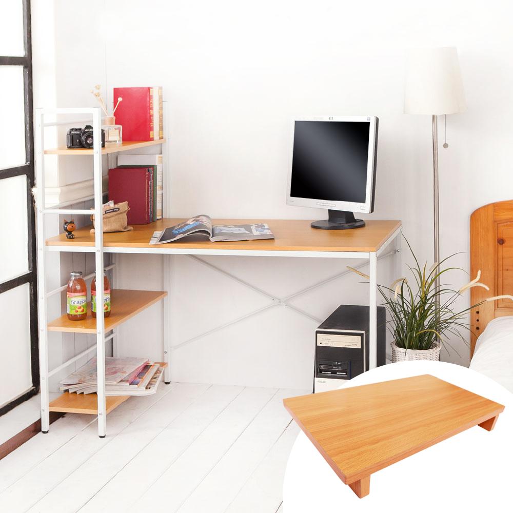 澄境 機能加深雙向層架工作桌(120x60x120cm)+送同色主機架-DIY