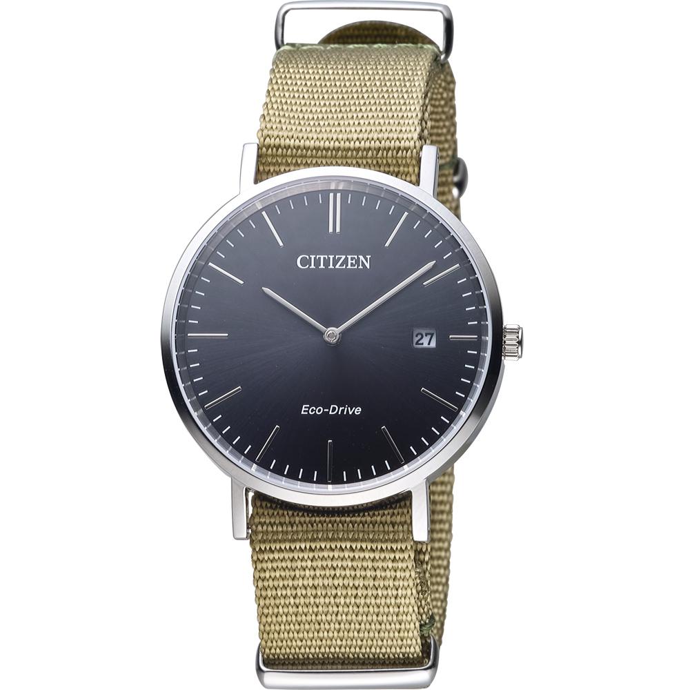 CITIZEN 經典百搭時尚紳士錶(AU1080-38E)-黑x軍綠色/40mm @ Y!購物