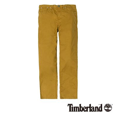 Timberland-男款土黃色鉚釘錶袋修身休閒長