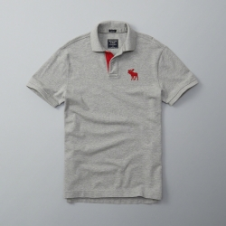 AF a&f Abercrombie & Fitch 短袖 POLO 灰色 190
