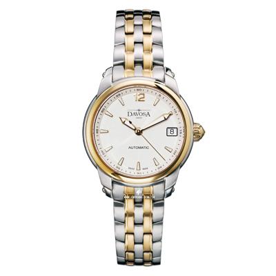 DAVOSA Ladies Delight 經典三針機械女錶-象牙白/金框/34mm