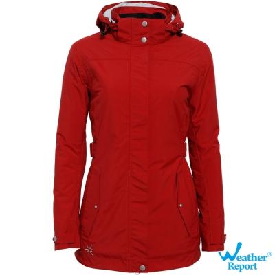 北歐Weather Report AIRTECH防水透濕保暖鋪棉外套-女款(深紅)