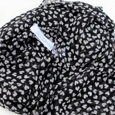 Aimee Toff 心花朵朵柔美巴黎紗圍巾(黑)