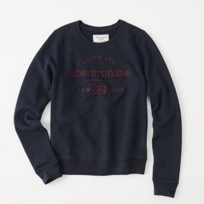 AF a&f Abercrombie & Fitch 女 長袖 T恤 藍 0334