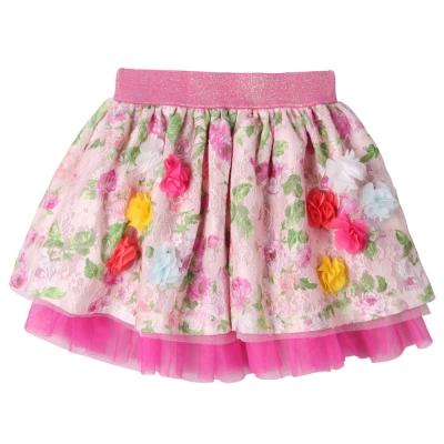 baby童衣-女童裙子-鄉村風小碎花造型網紗蕾絲裙
