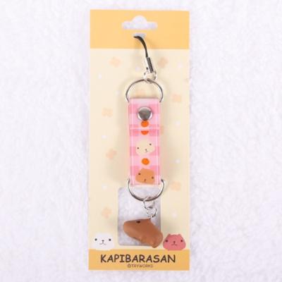 Kapibarasan 水豚君田園農場立體小公仔吊飾(粉紅色)