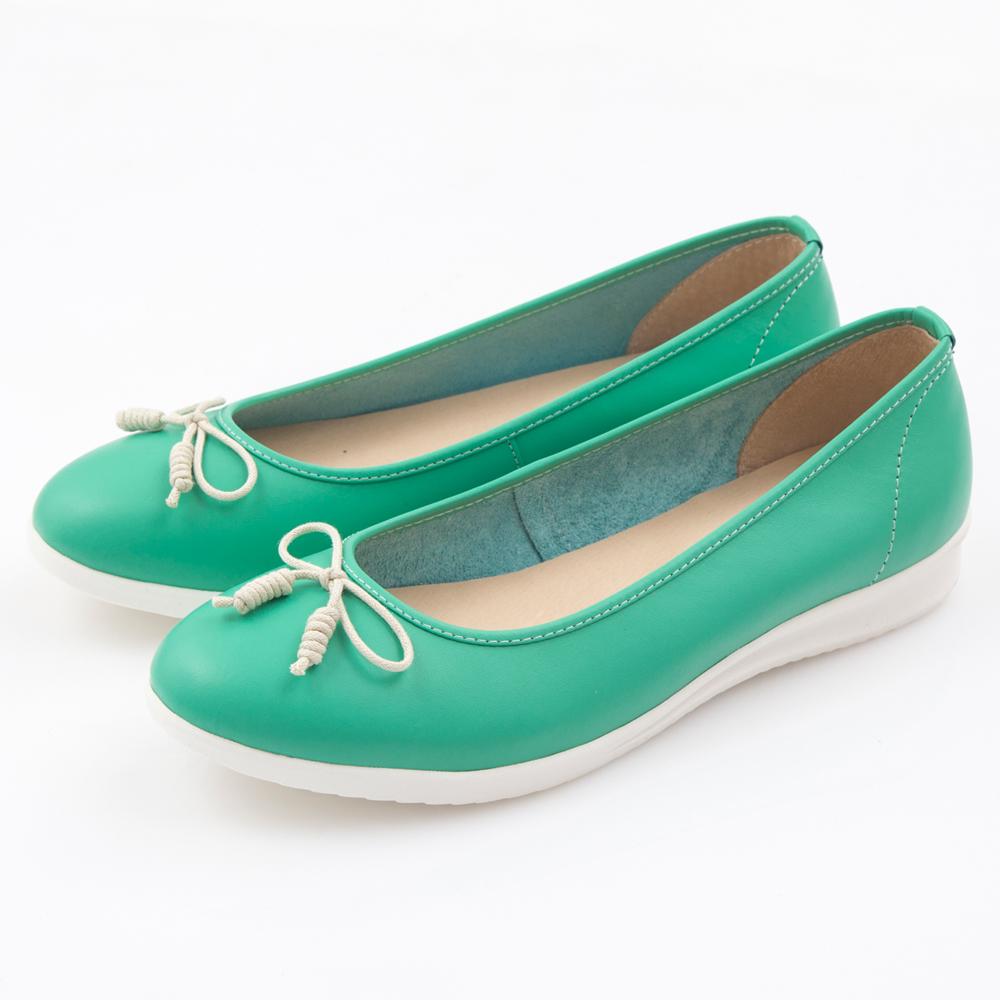 G.Ms. MIT系列-羊皮線圈綁繩蝴蝶結包鞋-馬卡綠