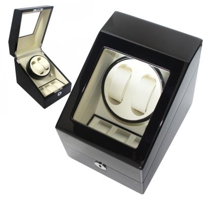 PARNIS BOX 自動上鍊盒2+3 日本馬達 黑白鋼琴烤漆 收藏錶盒 自動03-BW