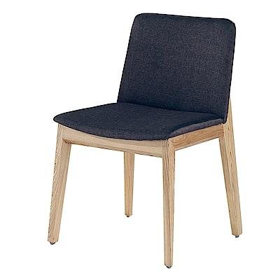 AS-艾富裡黑色皮面餐椅-49.5x55x77.5cm