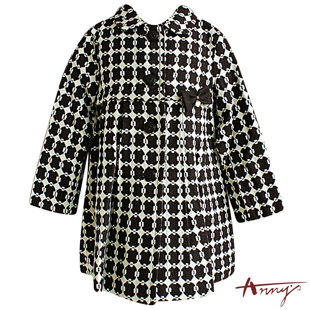 Annys優雅圈圈針織羊毛大衣*3277咖
