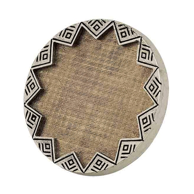 House of Harlow 1960 妮可李奇品牌~復古刻紋銀邊金雕版太陽神戒指銀邊金