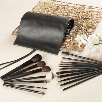 Galatea葛拉蒂 鑽顏系列-長柄黑原木18支裝專業刷具組
