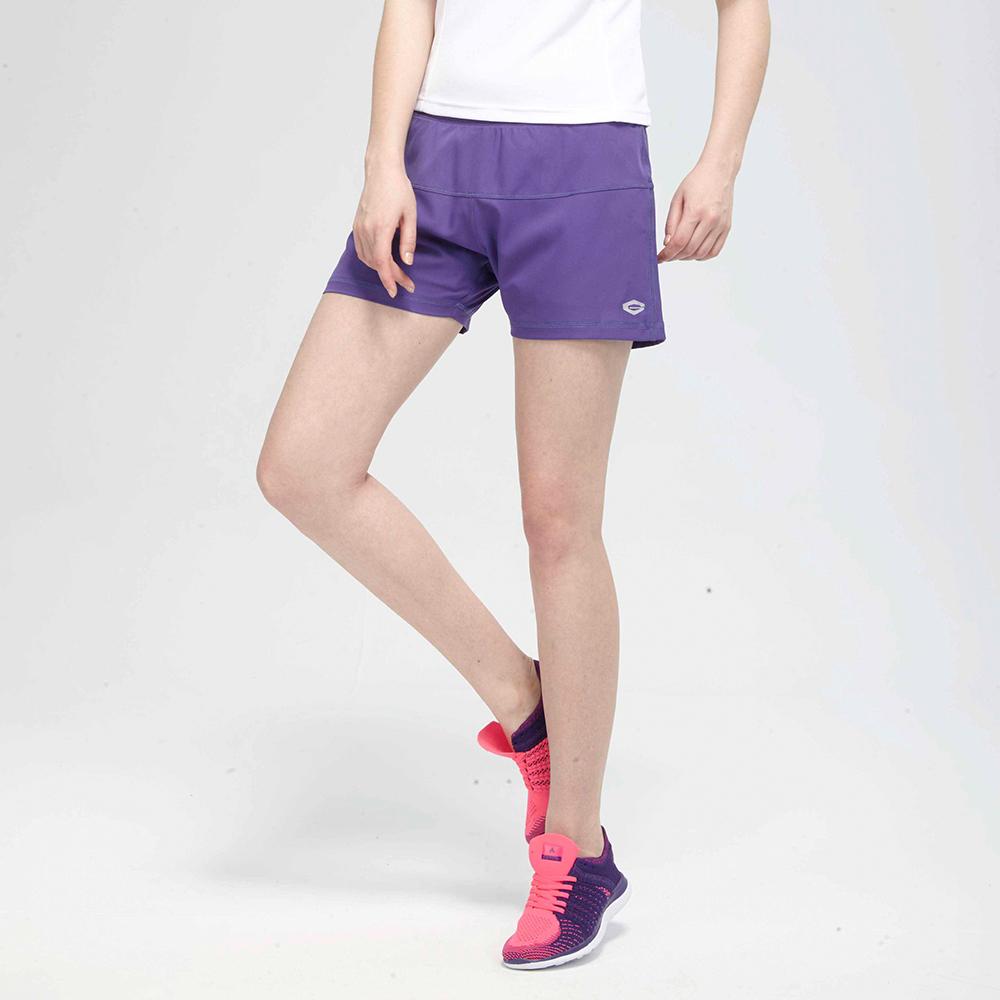 TOP GIRL純色鬆緊腰帶頭運動短褲-紫