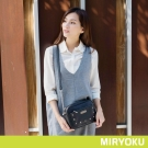 MIRYOKU 時尚星彩系列 / 鉚釘鏈帶方型斜背包(共3色)