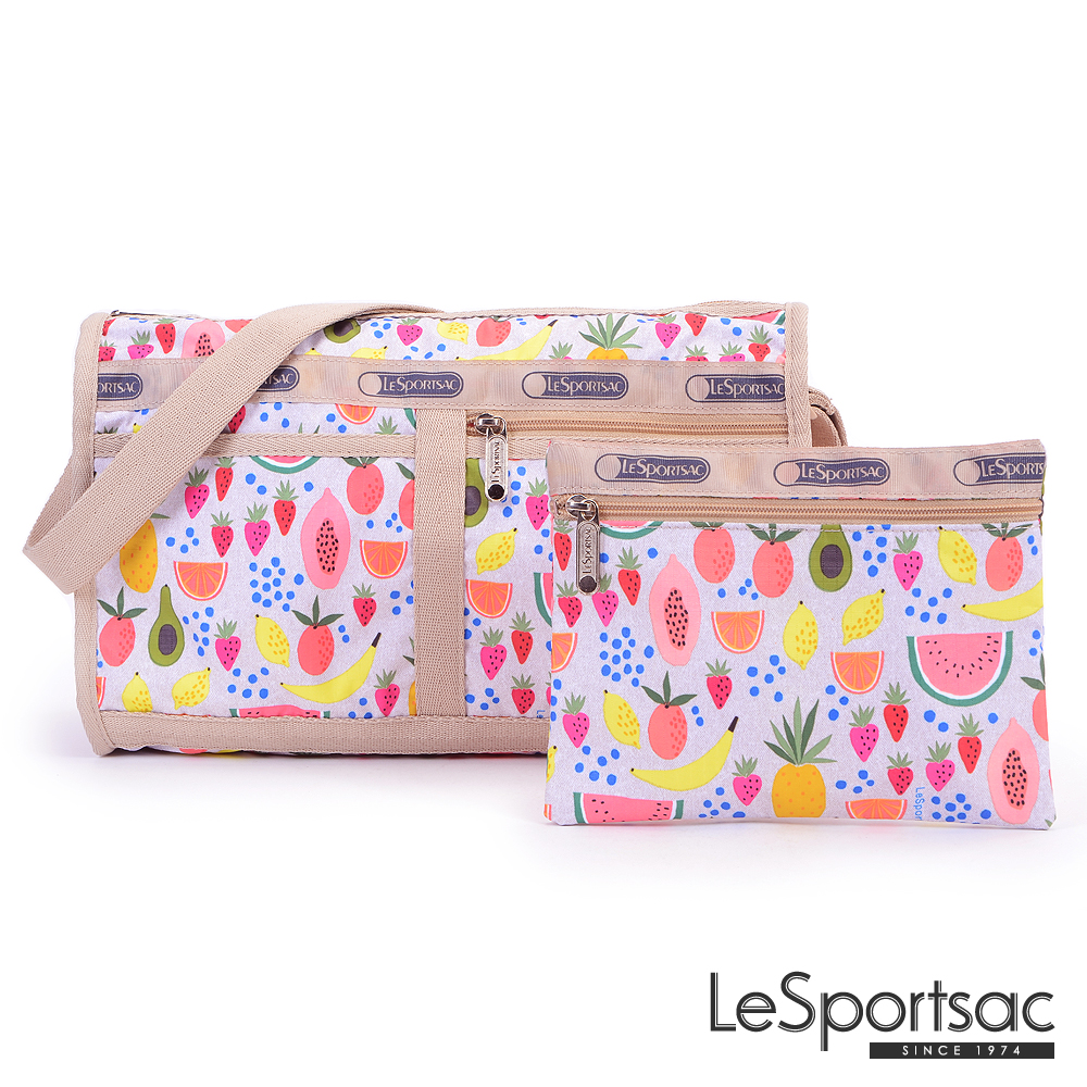 LeSportsac - Standard雙口袋斜背包-附化妝包(仲夏鮮果)