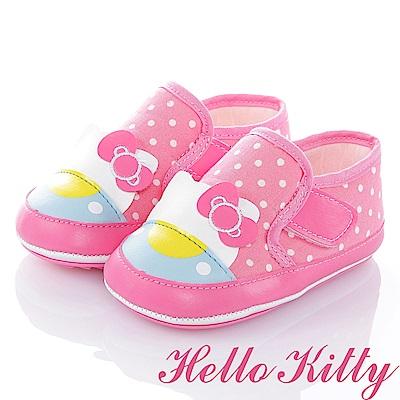 HelloKitty Die-Cut系列 輕量彈性防滑學步童鞋-粉