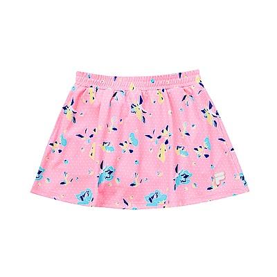 FILA KIDS 女童吸濕排汗短裙-粉紅 5SKS-4446-PK