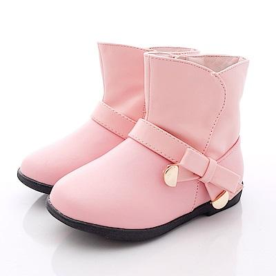 PV日系私藏 皮質短靴款 6511 粉色( 小童段)T1
