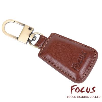 FOCUS 原皮-文創手作系列 單扣精緻烙印鑰匙圈